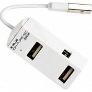Hub USB E-Blue Dynamic Purity White 4 porturi USB2.0