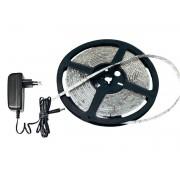 Chránený 5m LED pás studená biela 230V/12V