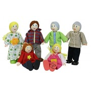 Hape E3500 - Familia de muñecos, piel clara
