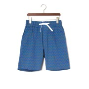 【65%OFF】SKIRZA ストレッチ ジグザグボーダー ハーフパンツ ネイビー 3 ファッション > メンズウエア~~パンツ