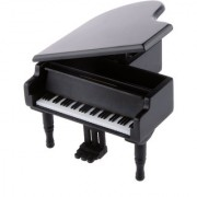 Magideal Black Wood Clockwork Piano Music Box Melody Play Box Kids Gift Kiss The Rain