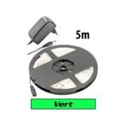 Lunartec Bande à LED 230 V pour intérieur, 5 m, avec prise secteur - Vert