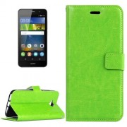 Huawei Y6 Pro Crazy Horse Texture Horizontal Flip Leather Case with Magnetic Buckle & Holder & Card Slots & Wallet & Photo Frame(Green)