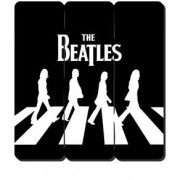 Placa Decorativa em MDF Ripado Banda The Beatles