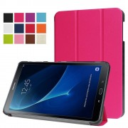 Samsung Galaxy Tab A 10.1 (2016) Smart Case gemaakt van PU Leer - Hot Pink