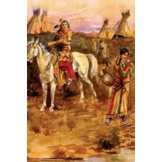 Piegan Flirtation (Charles Russell) Native American, for the Love of Art: Blank 150 Page Lined Journal for Your Thoughts, Ideas, and Inspiration