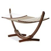 Boogvormige hangmat xxl 'AMAK' met houten structuur en afneembare doek