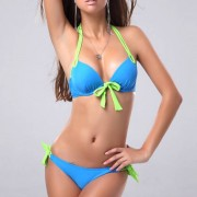 Push-up Bikini Miami Blue Green