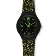 Swatch YGB4004 - Reloj analógico de mujer de cuarzo con correa de piel multicolor