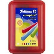 Pelikan Creaplast Leichtknete, Box rot, 9 Stangen Knete, Softknete, Schwimmknete