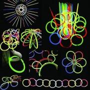 200 8 glow stick bracelets mixed colors 200bracelet necklace connectors 5 pairs of glow glasses connectors 1 glow ball/flower kit 5 hair clip barrettes