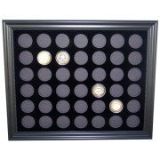 Black Silver Strike Display Frame for 42 Silver Strikes Casino Coins (Not Included)