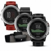 Garmin GPS Multisportuhr fenix 3 ohne Brustgurt Farbe silber - rot