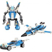 Magideal Kids Diy Educational Toys Assemble Building Block Toys - Fighter 241Pcs