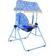 Natraj Cozy 027-LB Room Baby Swing - Pastel Blue