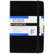 Moleskine City Notebook TORONTO Couverture rigide noire 9 x 14 cm