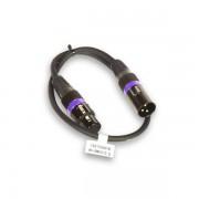 American DJ Accu Cable AC-DMX3/0,5 3 p. XLRm/3 p. XLRf 0,5m DMX