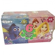 Disney Princess Minnie & Dory Puzzles - 6 Puzzle Party Pack (48 pc. & 24 pc. mix)