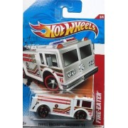 "Hot Wheels 2011 '' FIRE-EATER"" THRILL RACERS RACEWAY '11 - 6 of 6 - 222/244 White by Mattel/Hot Wheels"