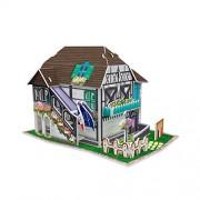 cubicfun 3d Puzzle France Flavor - Flower House