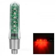 TE AMO Luz valvula de la rueda de la bici de la luz roja del modelo 7-LED - plata