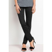 Womens Capture SuperStretch Pull On Straight Leg Jeans - Black Trousers