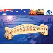 Puzzled Puzzle Sydney Bridge Natural Wood 3D Puzzle