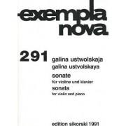 Ustvolskaya: Sonate Fur Violine Und Klavier/Sonata For Violin And Piano by Galina Ustvolskaya
