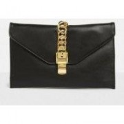 Missguided Black Faux Leather Clutch, Black