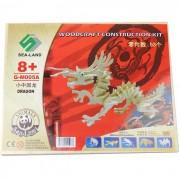 DIY Modelo de montaje de madera del dragon - Burlywood