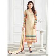 Vastrani Beige Womens Trendy Net Semi-Stitched 311D3064