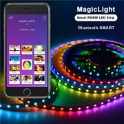 Airgoo Smart Bluetooth RGBW LED Strip Light Kit - Smartphone App Controlled Multi Color LED Light 3.28FT for Computer Case Decoration or Computer TV Backlight, Home Decoration, Parties Decoration