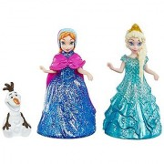 Disney Frozen Glitter Glider Anna Elsa and Olaf Doll Set