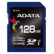 ADATA Premier Pro 128GB Read 90 MB/s and Write 85 MB/s SDXC UHS-I U3 Class 10 Memory Card (ASDX128GUI3CL10-R)