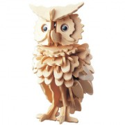 Magideal DIY 3D Wooden Jigsaw Owl Model Construction Kit Toy Puzzle Gift