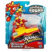 2009 Marvel Super Hero Squad SQUAD CRUISERS REPULSOR RAMMER w/IRON MAN FIGURE by Hasbro