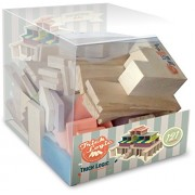 Town Hall set, 121 wooden blocks, manual game, universal set to play and build