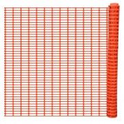 vidaXL Защитно бариерно ограждение, оранжево 50 м