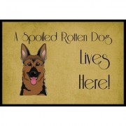 Caroline's Treasures German Shepherd Spoiled Dog Lives Here Mat BB1459JMAT / BB1459MAT