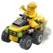 Racing Speed And Steering 72 Pcs Turbo Blaster Off Road 4 X4 Ironclad Yellow Dirt Bike With Rugged All Terrain Tires For Best Mountain Racing Fun A Must For 6+ Children In Lego Compatible Parts