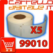 Etichette Compatibili con Dymo 99010 Bixolon Seiko 5 Rotolo
