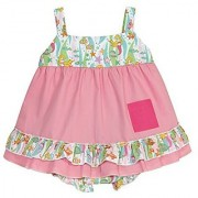 Stephan Baby Go Fish Swing Top and Ruffled Diaper Cover 6-12 Months
