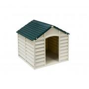 315917 Cuccia a forma di casetta in resina per cani 72 x 71.5 x 68cm Verde