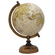 WOMS Big Desktop Rotating Globe Earth Geography World Globes Ocean Table Décor 8 Inch