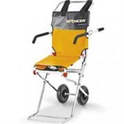 sedia portantina da evacuazione compatta a 2 ruote in acciaio - con br