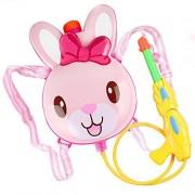 FFtoy Water Gun Backpack bunny fairy rabbit Super Soaker For Kids Toys - Summer Fun Outdoor Water Toy For Children Beach Pool Backyard Water Blaster Cartoon animal