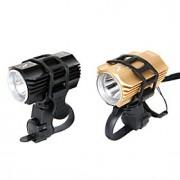 Luzes de Bicicleta Lanternas LED / Frente Bike Light LED Fácil Transporte 200LM Lumens Bateria Outros Preto / Dourado Ciclismo