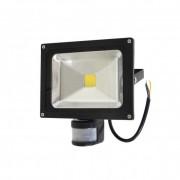 Fényvető / reflektor LED 20W, IP65, fekete, 4000K-white, sensor