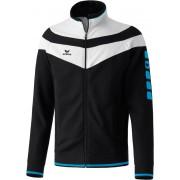 Erima 5-CUBES Fashion Jacket fekete/fehér/világos kék zippes felső