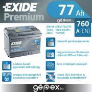 Exide Premium 77Ah 760A J+